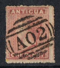 Antigua SG6 1864 Definitive 1d good used
